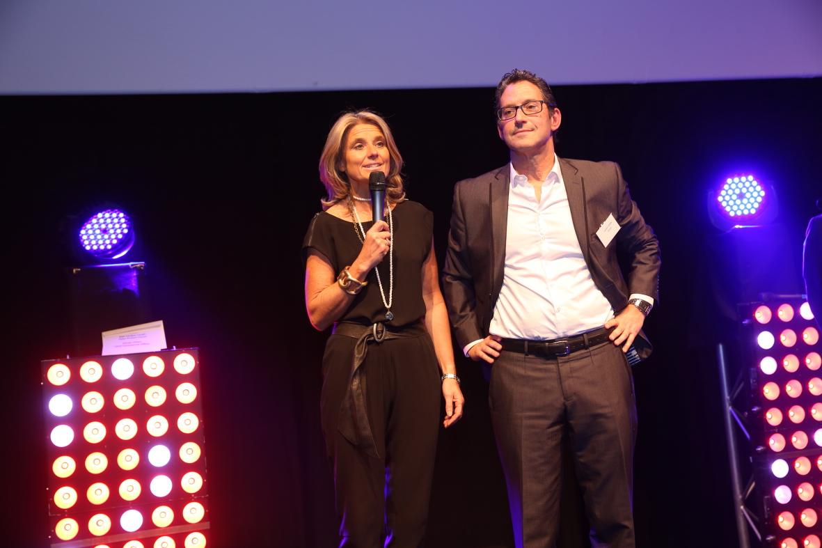 Laurent Feiner (Decavi) et Muriel Storrer (Aimes & co)